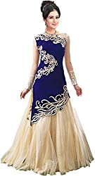 RK Fab Women's velvet unstitched gown multi-coloured (rk_097)