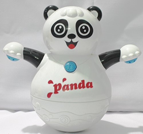 Musical Roly Poly Panda With Projector Lighting Gift Toy For Toddlers Infants Kids