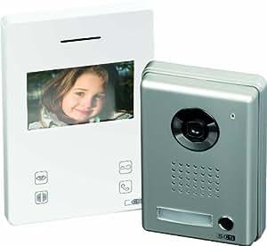 SCS SEN4138395 Kit portier vidéo Touche sensitive 4,2'' Platine de rue alu Blanc