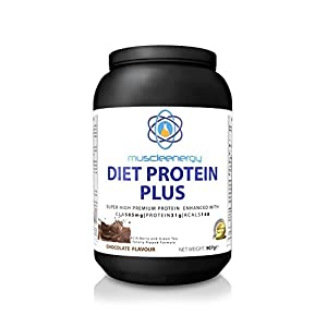 Muscleenergy Chocolate Diet Shake, DIET PROTEIN PLUS High Protein with 5 Fat Burners CLA, Acia Berry and Green Tea, Superlean Gym Supplement or Meal Replacement from Muscleenergy