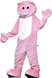 Pig Plush Economy Mascot Adult Costume - Mascot Costumes