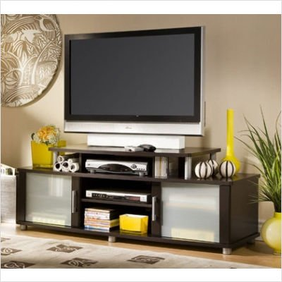 Contemporary City Life TV Stand Entertainment Center