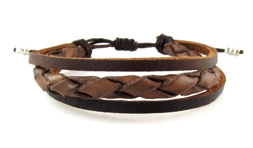 Braided Leather Zen Bracelet - Smaller Size Bracelet