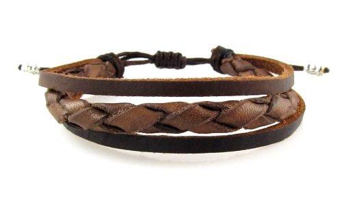 Braided Leather Zen Bracelet - Smaller Size Bracelet