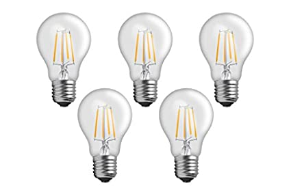 Imperial 4W E27 LED Filament Bulb (Yellow, Pack Of 5)