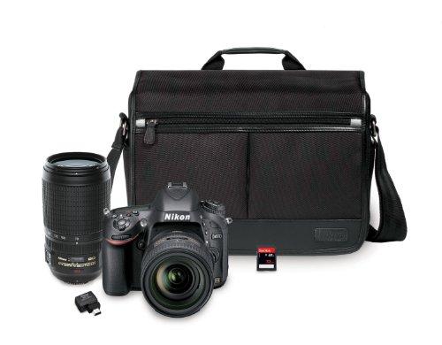 Nikon D610 24.3 MP CMOS FX-Format Digital SLR Camera Bundle with 24-85mm and 70-300mm Nikkor VR AF-S Lenses