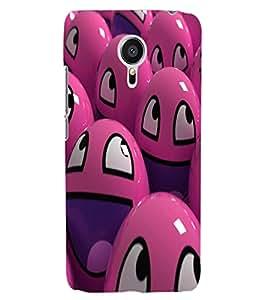 ColourCraft Smilies Design Back Case Cover for MEIZU MX5