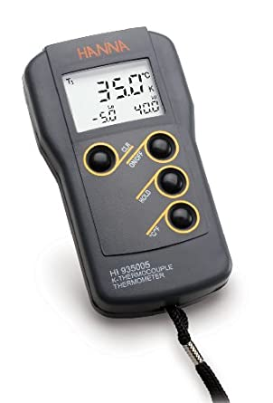 Hanna Instruments HI935005 K-Type Waterproof Thermocouple Thermometer, -50 to 1350 Degrees C; -58 to 2462 Degrees F, Accuracy of + or - 0.2% of Full Scale