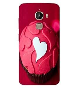 ColourCraft Love Muffin Design Back Case Cover for LeEco Le 2