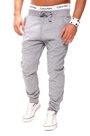 MT Styles - 1612 - Pantalon de jogging coupe ample - Gris - S