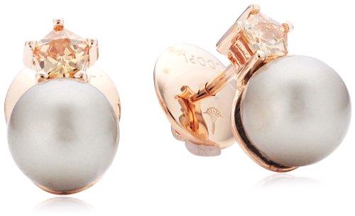 Joop Damen-Ohrstecker Silber vergoldet Perlmutt Zirkonia Gwyneth braun JPER90234C000
