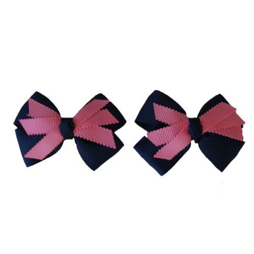 Jessidress Mädchen haarspange Haarklipp Baby haarclips Baby haarspange Dunkle blau/dunkle rosa