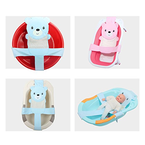 bienen lovely newborn baby kid massage bath net mesh sling baby bath seat mesh bathing cradle. Black Bedroom Furniture Sets. Home Design Ideas