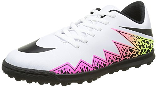Nike Unisex - Bimbi 0-24 Jr Hypervenom Phade II TF scarpe da calcio Bianco Size: 38