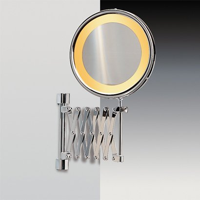 Windisch by Nameeks 99158 OV 3x Rustic Gold 7-3/4 Incandescent Lighted Mirror with 3x Magnification 99158-3x