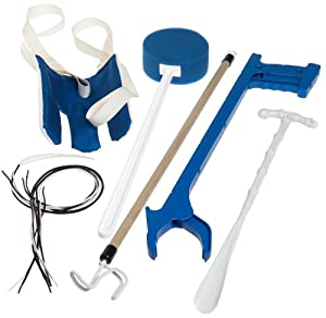 Duro-Med Deluxe Reach Assist Kit, Blue and White by Duro-Med