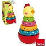 Goula - 55210 - Jouet en Bois - Eveil - Puzzle - Poule Culbuto