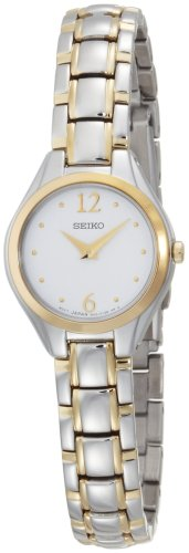 Seiko Women's SUJG06 Two-Tone White Dial Dress Watch