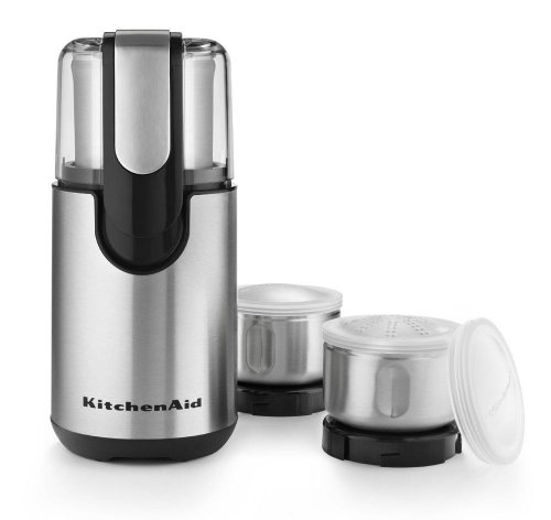 New Kitchenaid Blade Coffee and Spice Grinder Kit with Stainless Steel Bowls Gift for Your Family