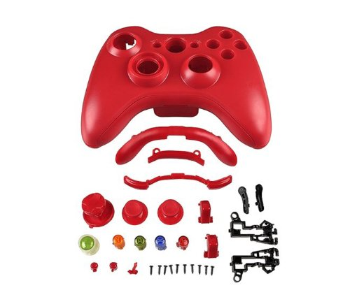 Niceeshop(Tm) 1 Set(32Parts) Xbox 360 Wireless Controller Shell Housing Parts-Red