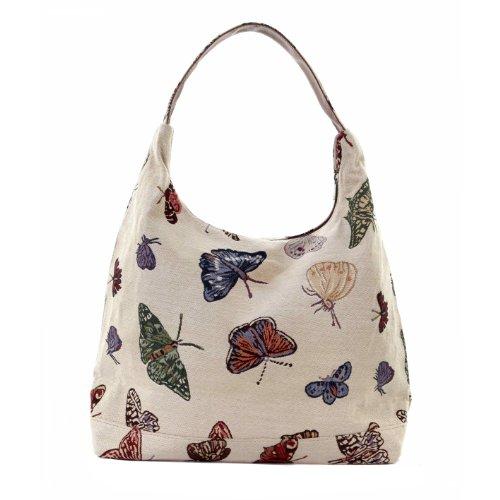 bolso de hombro en pu con mariposas