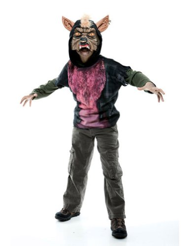 boys - Werewolf Hoodie Child L 10-12 Halloween Costume - Child 10-12