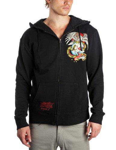Ed Hardy Basic Battle Hoodie Men's Sweatshirt Black Large