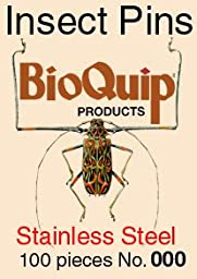 Insect Pins, Size 000, Stainless Steel, 100 pc