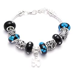 50th Birthday Charm Bracelet Womens Pandora Style Gift Boxed