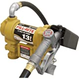 Fill-Rite SD1202 Fuel Transfer Pump, Telescoping Suction Pipe, 10' Delivery Hose, Manual Release Nozzle - 12 Volt, 13 GPM