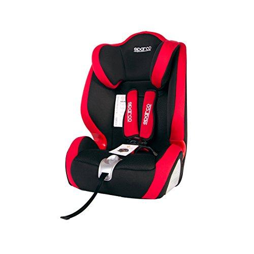 SPC SPC3005RS Seggiolino Auto Per Bambini Modello F1000K Sparco Rosso Gruppo 1,2,3