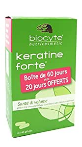 Biocyte Keratine Forte Anti-Chute & Volumateur Lot de 3 x 40 Gélules