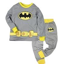 Little Hand Boys Batman Pajama Sleepwear Outfits Tops + Trousers Sets 2-7 Y 5 Years