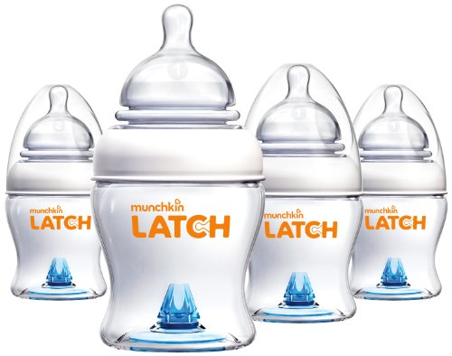 Buy Cheap Munchkin Latch BPA-Free Bottle, 4 Ounce, 4 Count