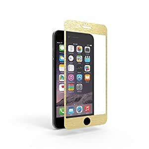 PureGear Tempered Glass with Brushed Aluminum Border - iPhone 6s Plus/6 Plus Gold
