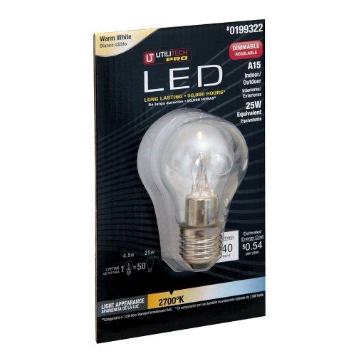 Utilitech Pro 4.5-Watt (25W) Warm White (2700K) Decorative Led Bulb