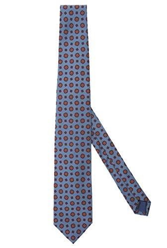 Ernani Krawatte aus Seide, Türkis, hergestellt