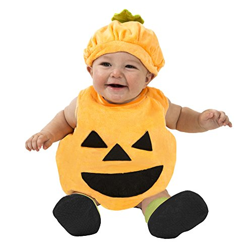 Boo Babies Halloween Costume Orange Pumpkin Sz 0-9 Months 4 Pieces
