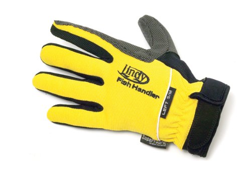 Lindy fish handling glove small medium yellow left hand for Fish cleaning gloves