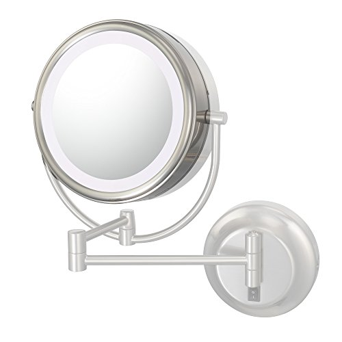 Kimball & Young 725-92573L Optional Lens And Frame For Neo Modern Led Mirrors, 3X Magnification, Brushed Nickel