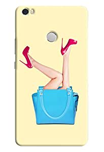 Omnam Girl Legs Coming Out Of Purse Printed Designer Back Cover Case For Xiaomi Mi Max