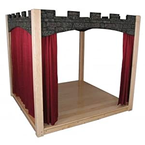 Strictly for Kids SK5140CP Premier Deluxe Castle Design Indoor Stage with Curtains