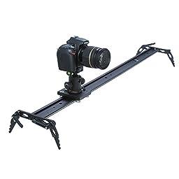 Koolertron 100cm Camera Shooting Mini Slider Rail Video Stabilization System+Ball Head For DV DSLR Video Camera Canon 550D 500D 600D 1100D 60D 50D 40D 5D 5DII 5DIII Nikon D300 D5100 D3100 D3000 D5000 D90 D7000 D