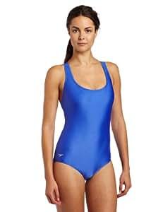 Speedo Womens Ultraback Moderate Swimsuit, Bright Blue, 16