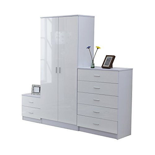 homcom-high-gloss-3-piece-trio-bedroom-furniture-set-wardrobe-chest-of-drawer-bedside-white