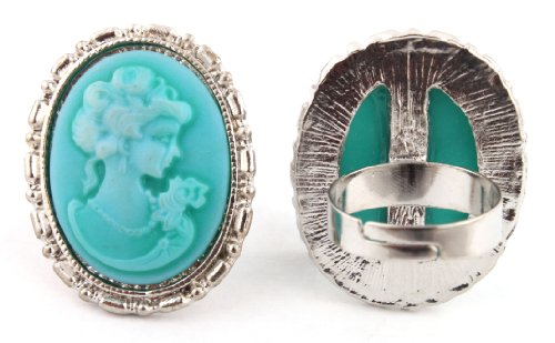 Aqua Mary Antoinette Metal Adjustable Finger Ring