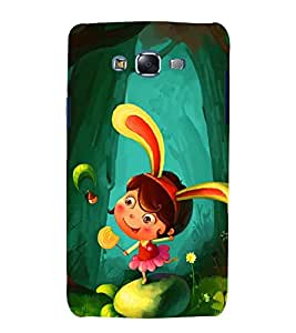 printtech Girl Bunny Kid Back Case Cover for Samsung Galaxy Grand Prime G530h