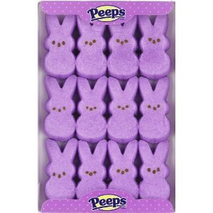 Marshmallow Peeps Purple Easter Bunnies, 2 Packs