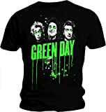 Official T Shirt GREEN DAY Uno Dos Tre Album BAND DRIPS All Sizes