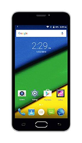 Creev Mark V Prime 4G LTE Smartphone 5'' IPS LCD HD 1280x720 Quad Core MTK6735 5MP 1 GB di RAM 8 GB di ROM da 8 megapixel 2400mAh Bluetooth GPS FM Android 5.1 Dual SIM Dual Standby cellulare sbloccato il telefono mobile WIFI SIM-Free (Bianco)